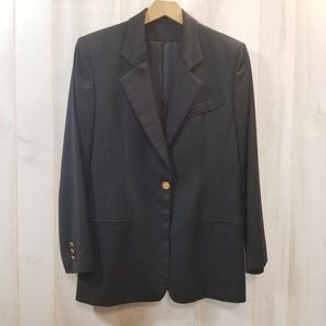 Vintage Burberry's Black 100% Wool Skirt Suit 4/6